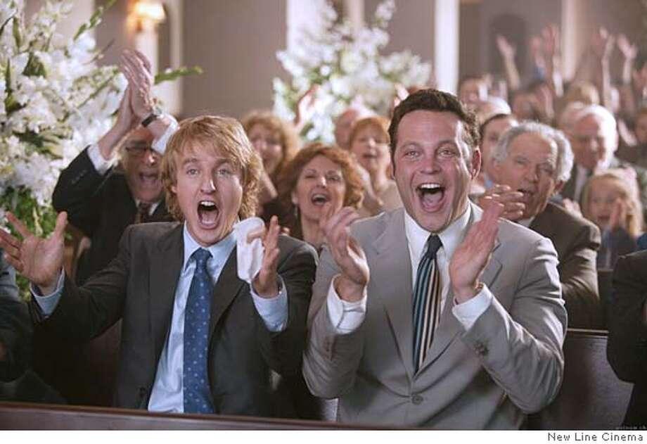 "Owen Wilson and Vince Vaughn in ""The Wedding Crashers"" 2005 Ran on: 07-10-2005  Owen Wilson and Vince Vaughn in &quo;The Wedding Crashers&quo;: Posing as guests has consequences. Ran on: 07-10-2005"