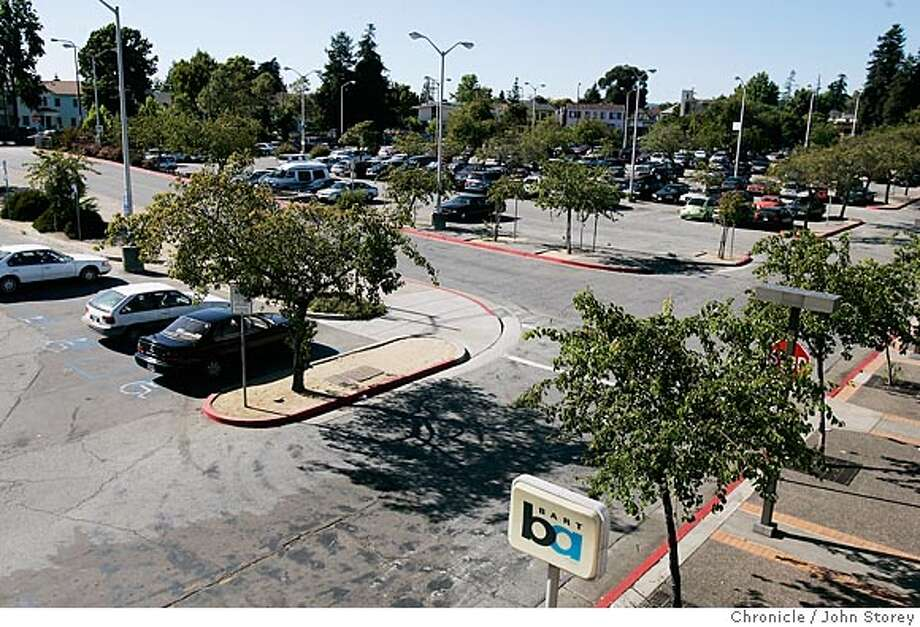 The west parking lot of the ashby BART Station. Story about putting an artist colony adjoining the Ashby Bart Station. Pictures of the parking lot at the BART station. John Storey Berkeley Event on 7/11/05 Photo: John Storey