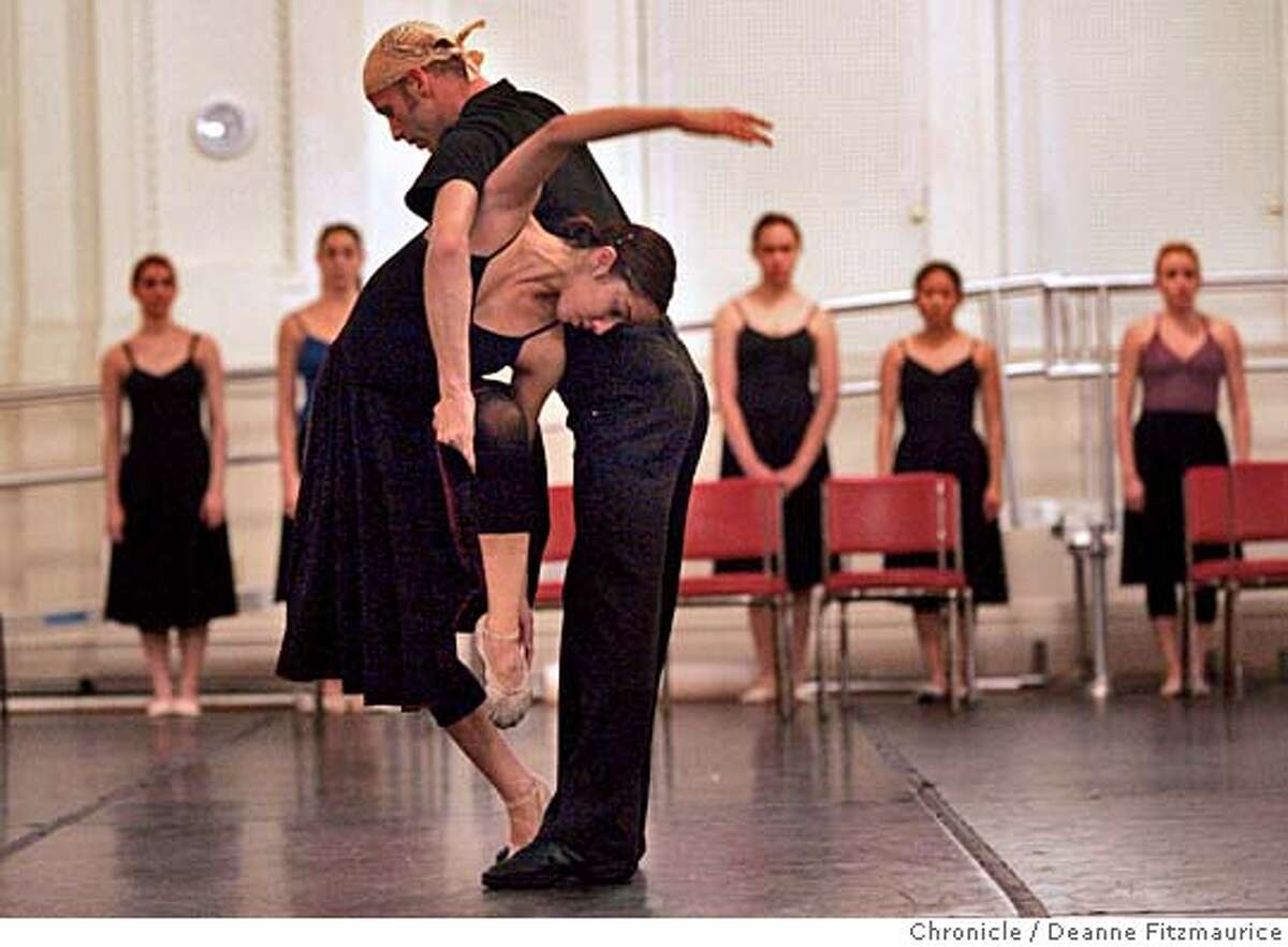 conservatory_121_df.JPG Bryan Ketron & Chloe Crade are rehearsing Jiri Kylian's 'Symphony of Psalms. San Francisco Conservatory of Dance holds a dress rehearsal as part of the Summer Intensive program at the Regency Center. San Francisco Chronicle/ Deanne Fitzmaurice