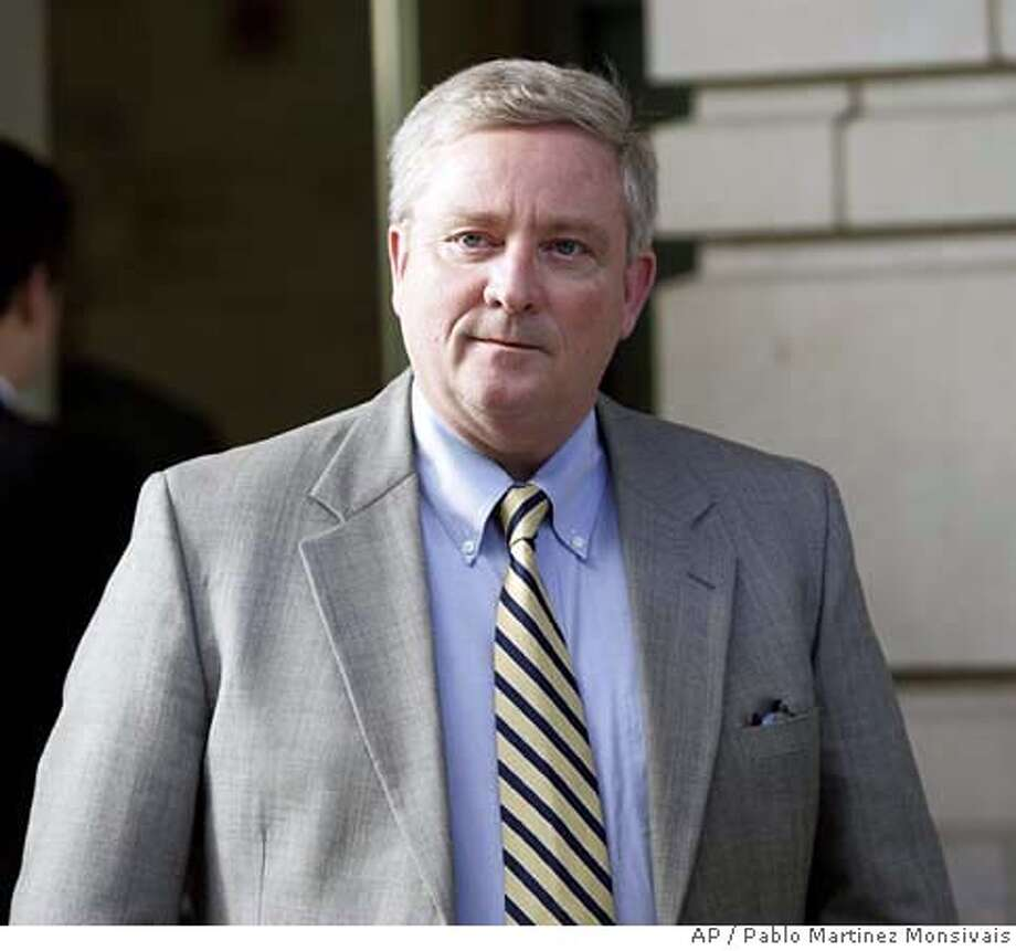 Former Ohio Rep. Bob Ney leaves U.S. Federal Court in Washington, Friday, Jan. 19, 2007 after being sentenced to 30 months in federal prison for his role in a congressional bribery scandal. (AP Photo/Pablo Martinez Monsivais) Photo: PABLO MARTINEZ MONSIVAIS