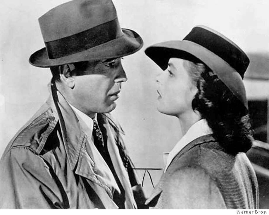 """Humphrey Bogart, playing Rick Blaine to Ingrid Bergman's Ilsa Lund in """"Casablanca,"""" finally found his defining role in the 1942 classic. It was a movie everyone loves and goes on loving forever. Photo courtesy of Warner Bros."""
