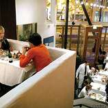 The dining room at Zuni Cafe in San Francisco, Ca. (BY CARLOS AVILA GONZALEZ/THE SAN FRANCISCO CHRONICLE)