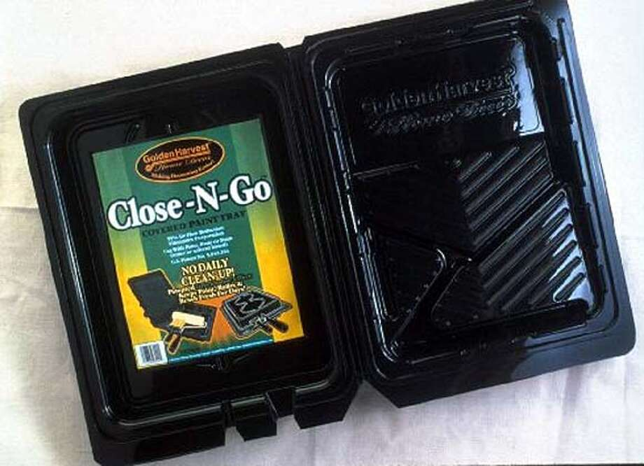 Close-N-Go ($6) paint tray from Roman Decorating Products