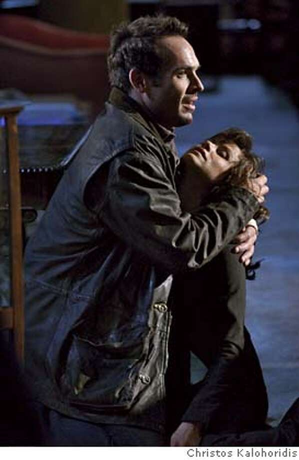 "THE DRESDEN FILES -- ""The Boone Identity"" -- Pictured: (l-r) Paul Blackthorne as Harry Dresden, Valerie Cruz as Lt. Connie Murphy -- SCI FI Channel Photo: Christos Kalohoridis Photo: Christos Kalohoridis"