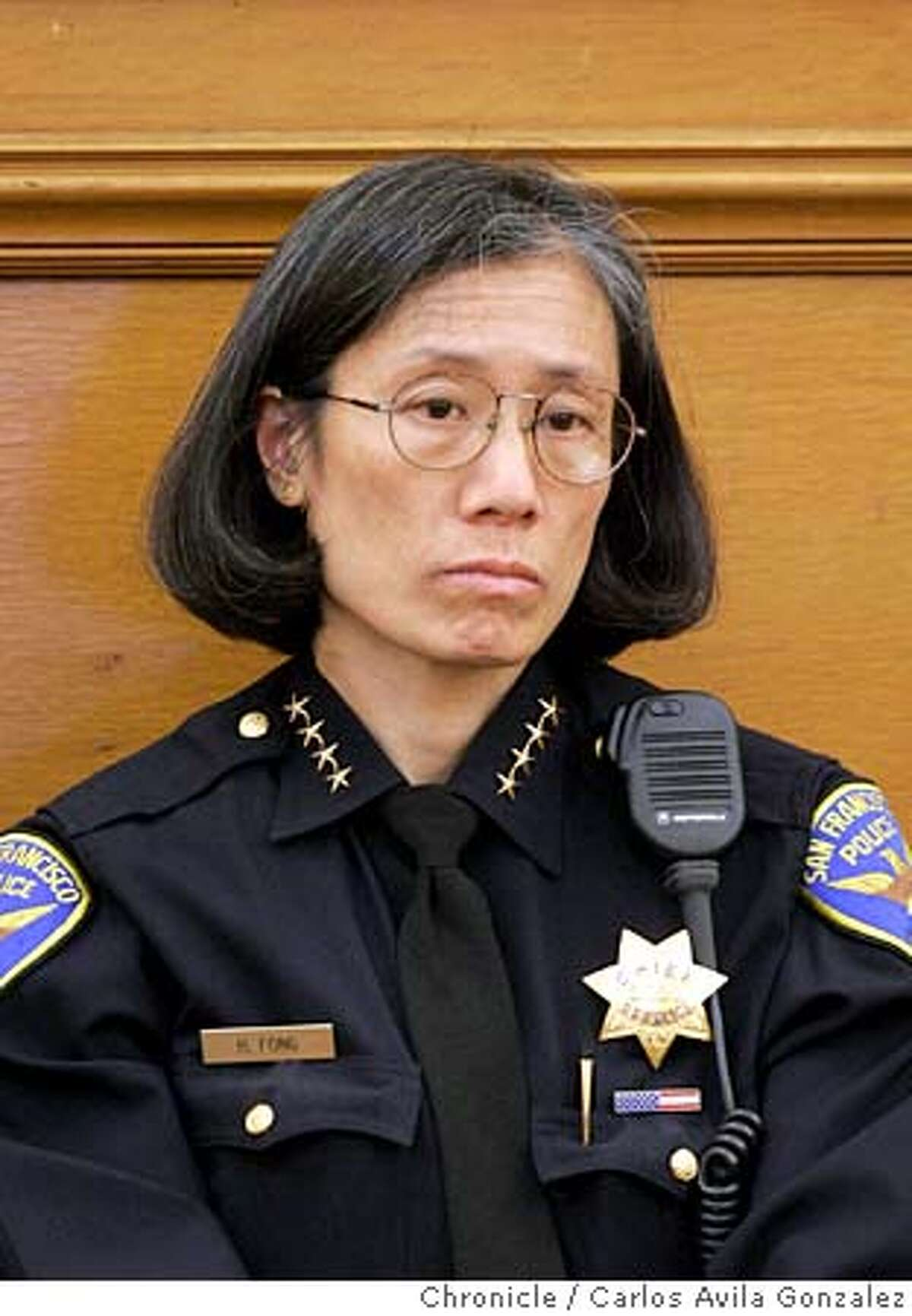 SFPD011_CAG.JPG San Francisco Police Department Chief, Heather Fong. Photo taken on 10/06/04, in San Francisco, Ca. Photo by Carlos Avila Gonzalez/The San Francisco Chronicle MANDATORY CREDIT FOR PHOTOG AND SF CHRONICLE/ -MAGS OUT