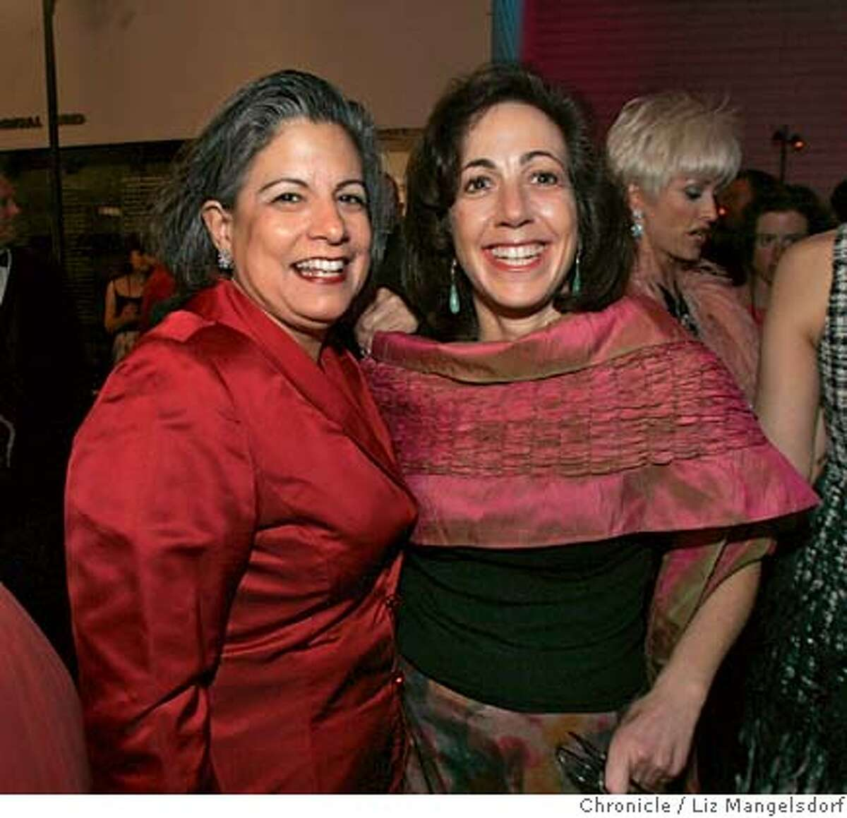 modern07_058_lm.JPG Event on 5/4/05 in San Francisco. SFMOMA's new gala: The Modern Ball, at the SFMOMA. Susan Leal, left, SF Public Utilities Commission General Manager and her partner Susan Hirsch. Liz Mangelsdorf / The Chronicle Ran on: 09-29-2006 Ran on: 09-29-2006 Ran on: 11-01-2006 Ran on: 11-01-2006 Ran on: 11-01-2006 Ran on: 11-01-2006 Ran on: 11-07-2006 Ran on: 11-07-2006 Ran on: 01-03-2007 Ran on: 01-03-2007 Ran on: 01-17-2007 Ran on: 01-17-2007 MANDATORY CREDIT FOR PHOTOG AND SF CHRONICLE/ -MAGS OUT