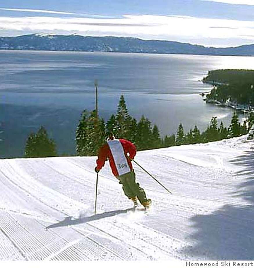 Homewood Ski Resort Ran on: 11-07-2004  View from the top: Homewood's unassuming entrance belies the expansive lake views presented to skiers descending from the summit. Photo: Handout