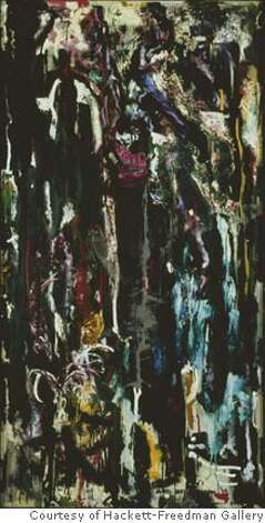 """Untitled"" (1955) oil on canvas by James Budd Dixon Photo credit: PHOCASSO/J.W.White Courtesy of Hackett-Freedman Gallery, San Francisco Ran on: 01-20-2007  &quo;Untitled&quo; oil on canvas by James Budd Dixon, from &quo;A Culture in the Making: New York and San Francisco in the 1950s and 60s.&quo; Photo: Photo Credit: PHOCASSO/J.W.Whit"