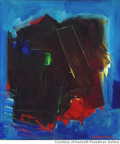 """Nocturn"" (1962) oil on canvas by Hans Hofmann Photo credit: PHOCASSO/J.W.White Courtesy of Hackett-Freedman Gallery, San Francisco Ran on: 01-20-2007  &quo;Untitled&quo; oil on canvas by James Budd Dixon, from &quo;A Culture in the Making: New York and San Francisco in the 1950s and 60s.&quo; Photo: Photo Credit: PHOCASSO/J.W.White"