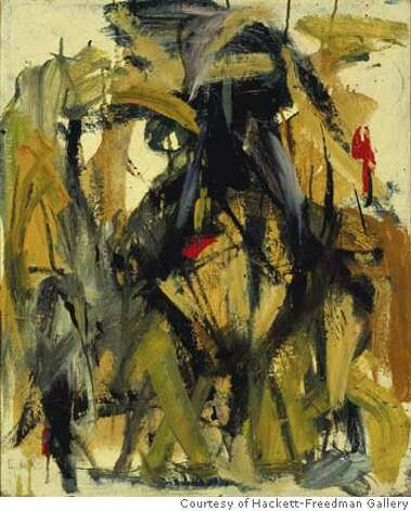 """Herzog #1"" (1955) oil on canvas by Elaine de Kooning Courtesy of Hackett-Freedman Gallery, San Francisco Ran on: 01-20-2007  &quo;Untitled&quo; oil on canvas by James Budd Dixon, from &quo;A Culture in the Making: New York and San Francisco in the 1950s and 60s.&quo; Photo: By Elaine De Kooning"