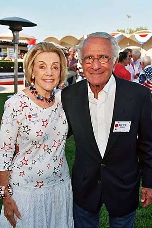 Roz and Merv Morris at his 80th birthday party Photo: Thomas J. Gibbons/Special To The