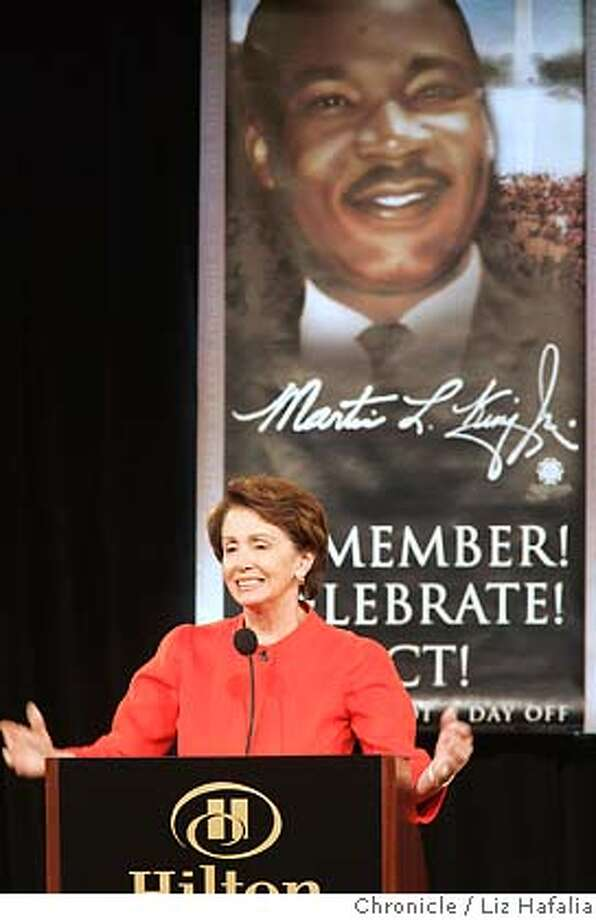 MLK_PELOSI_065_LH.jpg Nancy Pelosi at the Dr. Martin Luther King, Jr. Labor and Community Breakfast with labor leaders at sf hilton. Liz Hafalia/ sfcMLK_PELOSI_065_LH.jpg Photo: Liz Hafalia