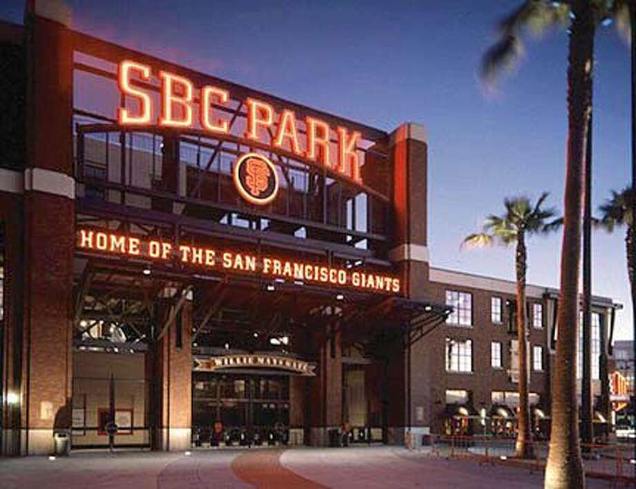 New logo for SBC Park - formerly Pac Bell Park. The style will remainn the same. Photo Illustration courtsey of the SF Giants. SBC Park's new logo, as shown in this photo illustration, will be reminiscent of the original sign, SBC Park's new logo, as shown in this photo illustration, will be reminiscent of the original sign. The retro style remains but the corporate name on the sign will change as PacBell Park turns into SBC Park , which fans likely will reject much as they did the renaming of Candlestick as 3Com. ALSO RAN 10/26/03 CAT