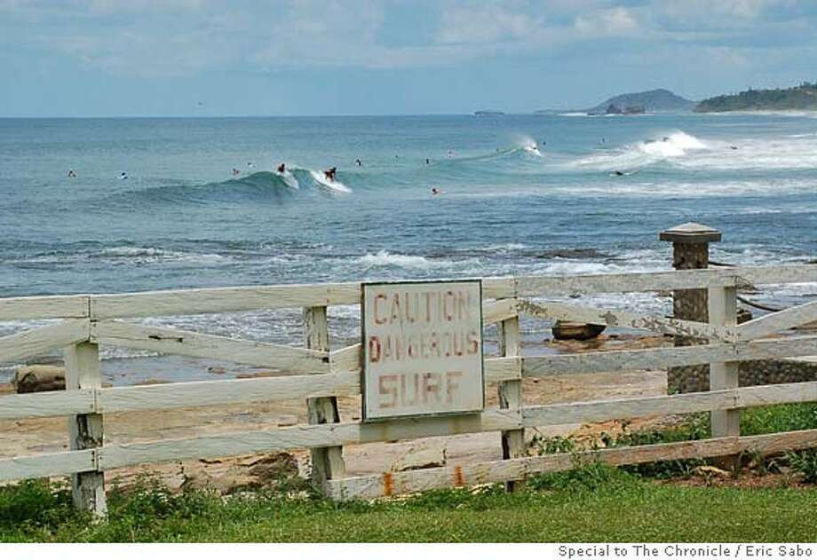 San Juan Beach near Popoyo beach, which includes a gated community of mostly American residents and signs in english. Photo by Eric Sabo/Special to The Chronicle Photo: Eric Sabo/Special To The Chronic