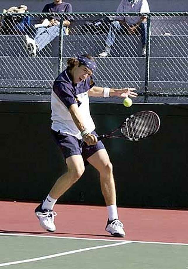 THIS IS A HANDOUT IMAGE. PLEASE VERIFY RIGHTS. Picture of John Paul Fruttero  Photo: Patrick Merrill  For CAL TENNIS07 Photo: Patrick Merrill