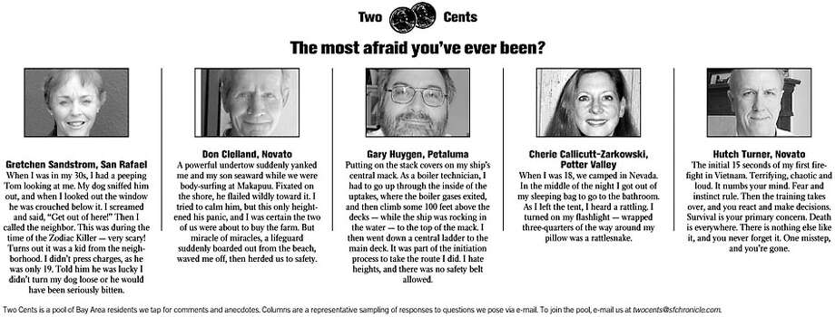 Two Cents: The most afraid you've ever been?