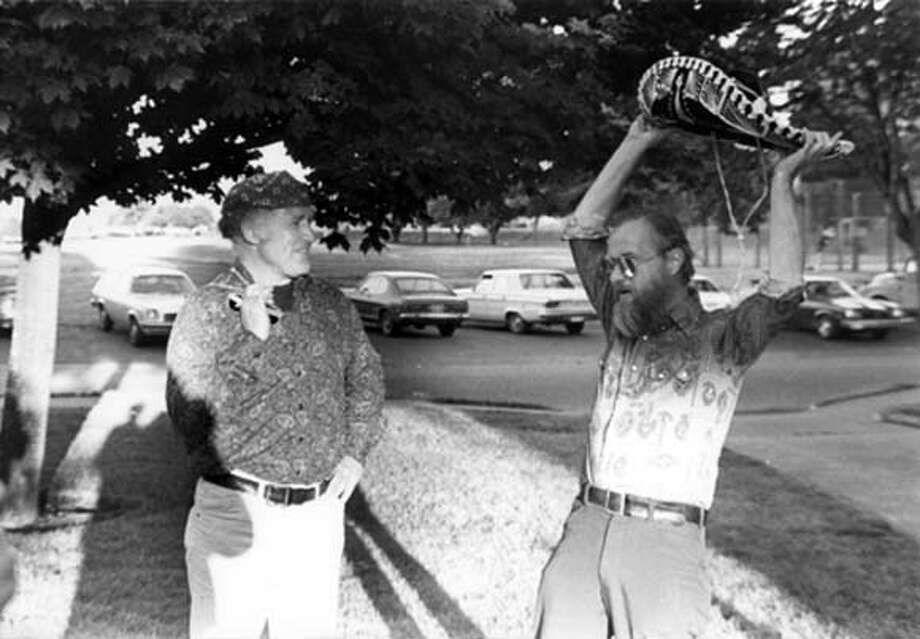 "ken Kesey and Robert Stone in 1979 from ""Prime Green"" by Robert Stone. Photo: Handout"