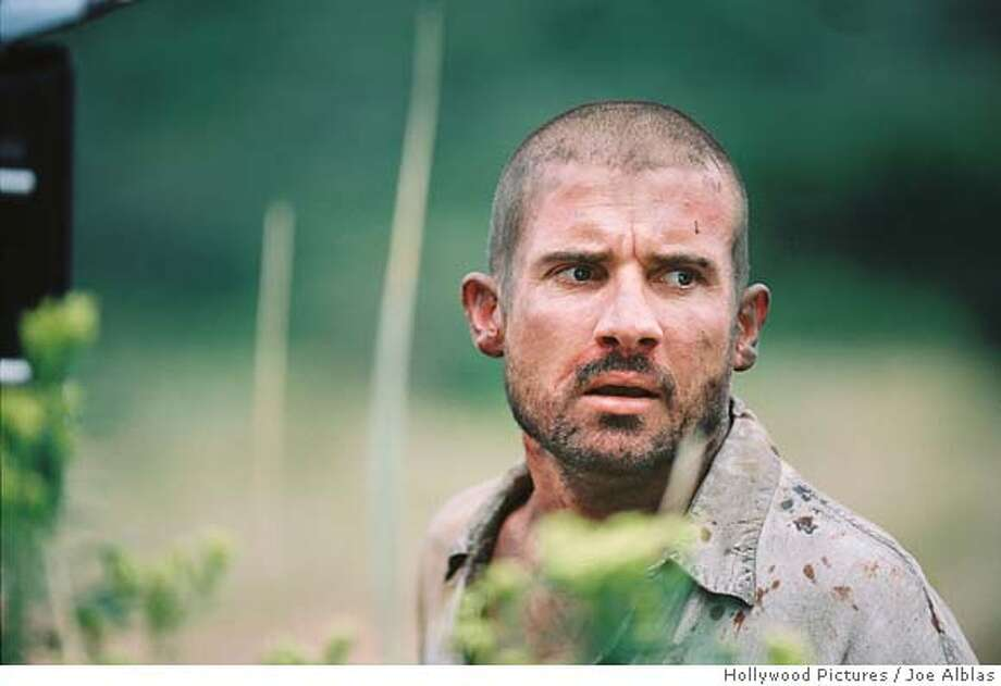 """Dominic Purcell in """"Primeval."""" DOMINIC PURCELL  Hollywood Pictures / Joe Alblas � HOLLYWOOD PICTURES COMPANY. ALL RIGHTS RESERVED. DOMINIC PURCELL HOLLYWOOD PICTURES COMPANY. ALL RIGHTS RESERVED. DOMINIC PURCELL � HOLLYWOOD PICTURES COMPANY. ALL RIGHTS RESERVED. Photo: Joe Alblas, C Hollywood Pictur"""