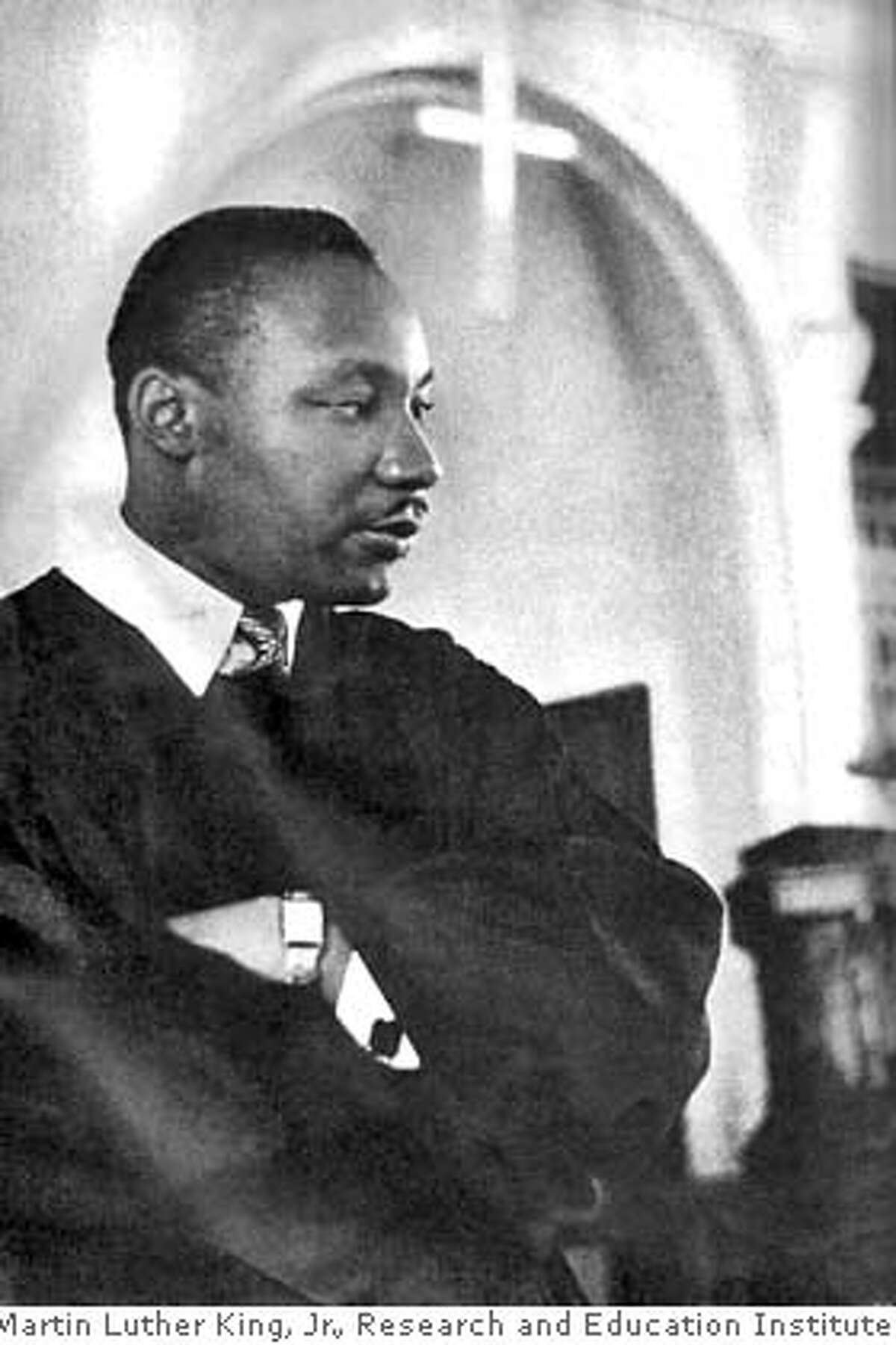 Martin Luther King Jr. at Dexter Avenue Church where he began his first full-time pastorship in Montgomery, Ala. Courtesy / Martin Luther King, Jr., Research and Education Institute. MANDATORY CREDIT FOR PHOTOGRAPHER AND SAN FRANCISCO CHRONICLE/ - MAGS OUT