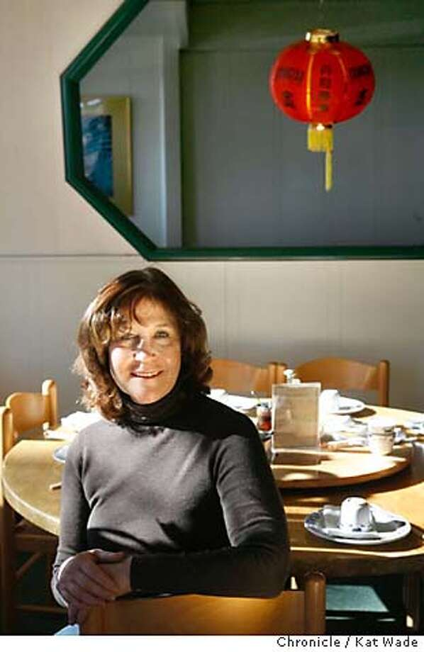 CooksNightOut31_0004_KW_.jpg  Marsha McBride, the Chef/owner of Cafe Rouge in Berkeley enjoys dinning out at China Village Restaurant on Monday December 18, 2006 in Albany. Kat Wade/The Chronicle Mandatory Credit for San Francisco Chronicle and photographer, Kat Wade, Mags out Photo: Kat Wade