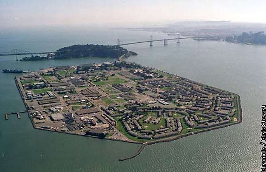 AERIAL VIEW OF TREASURE ISLAND NAVAL BASE Photo: CHRIS STEWART