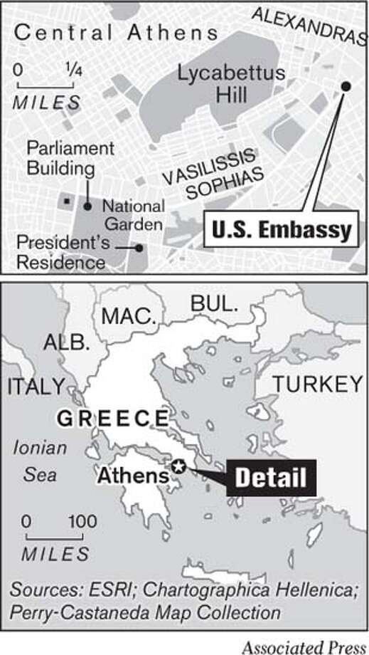 U.S. Embassy in Athens, Greece. Associated Press Graphic
