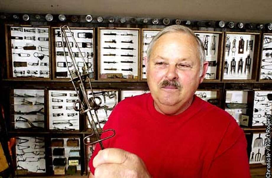 Charles Roncelli who has the largest collection of Gopher traps in the world . .Photo By Kurt Rogers Photo: Kurt Rogers