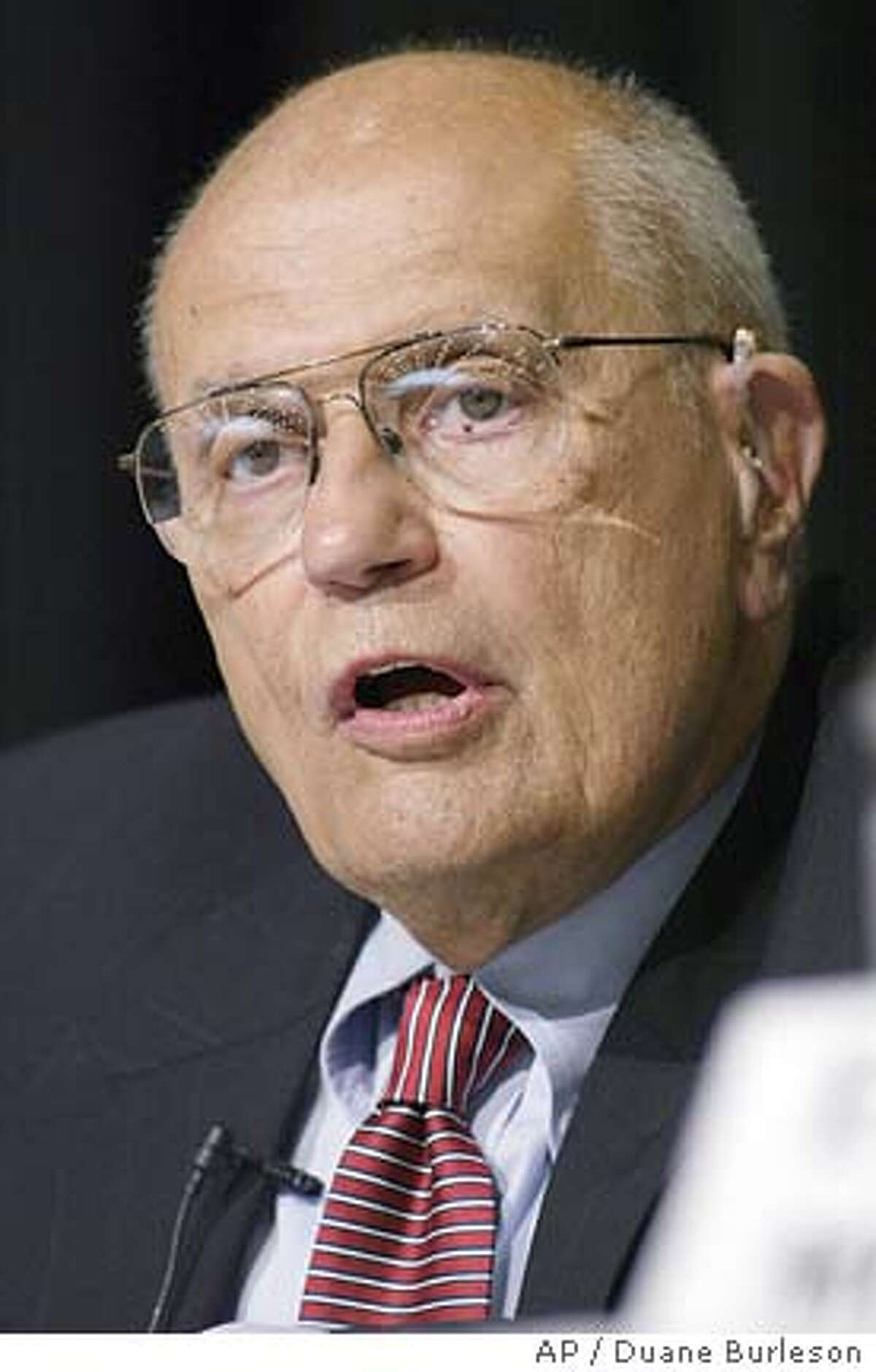 Representative John Dingell, D-Mich., responds to a question during his debate with Rep. Lynn Rivers, D-Mich., in Dearborn, Mich., Saturday, July 27, 2002. The two lawmakers are seeking the Democratic nomination to run for Michigan's 15th District Congressional seat. Dingell and Rivers are forced to face each other in the Aug. 6 primary under a redistricting map drawn by a Republican Legislature. (AP Photo/Duane Burleson) also ran 09/26/03 cat Ran on: 10-28-2004 Rep. John Dingell said the proposal would protect utility profits while hurting conservation efforts. Ran on: 10-28-2004 Rep. John Dingell said the proposal would protect utility profits while hurting conservation efforts.