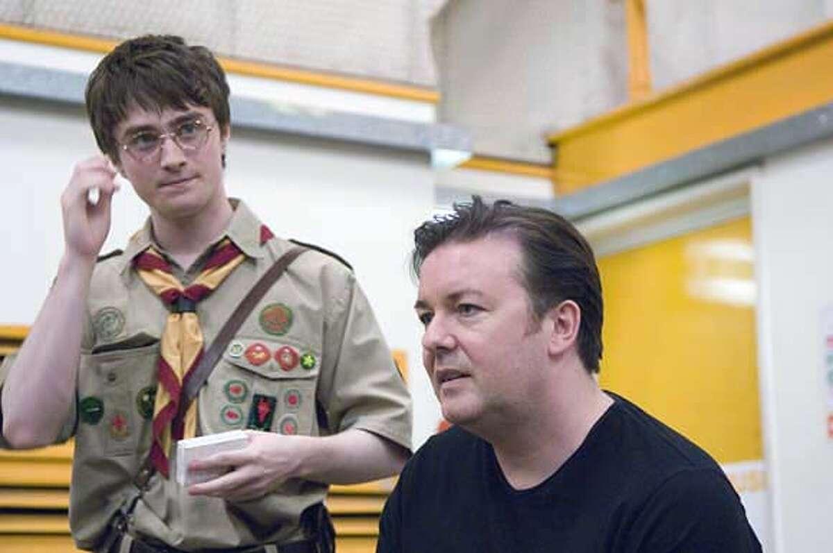EXTRAS: Daniel Radcliffe, Ricky Gervais. photo: Ray Burmiston