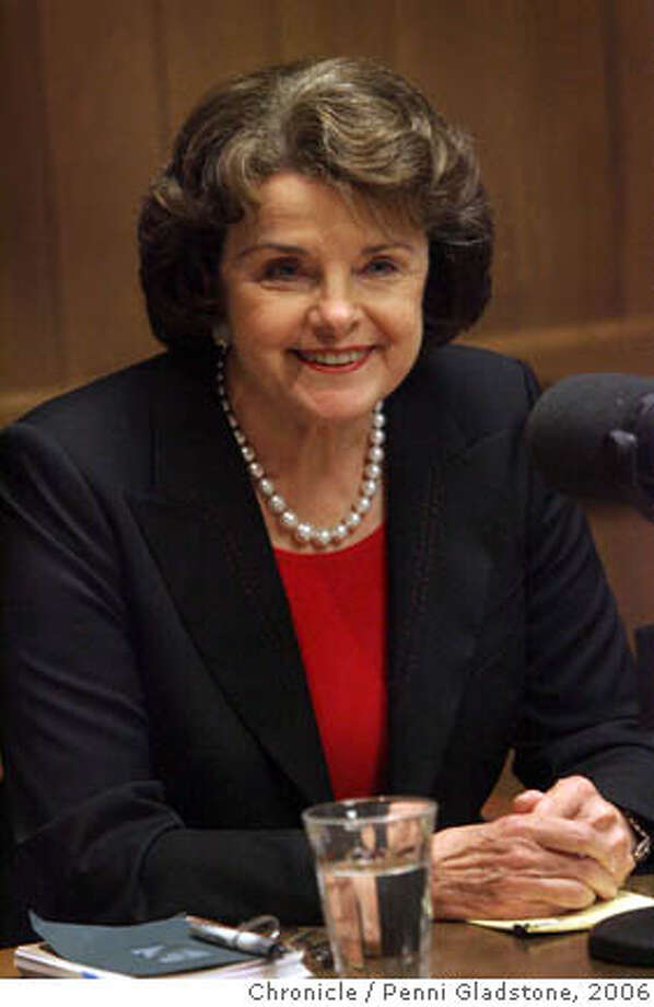 United States Senator Dianne Feinstein talks to editorial board at the SF Chronicle.  Event on 10/23/06 in San Francisco.  Penni Gladstone / The Chronicle Ran on: 10-29-2006 Ran on: 10-29-2006 Ran on: 11-03-2006 Ran on: 11-07-2006 Photo: Penni Gladstone
