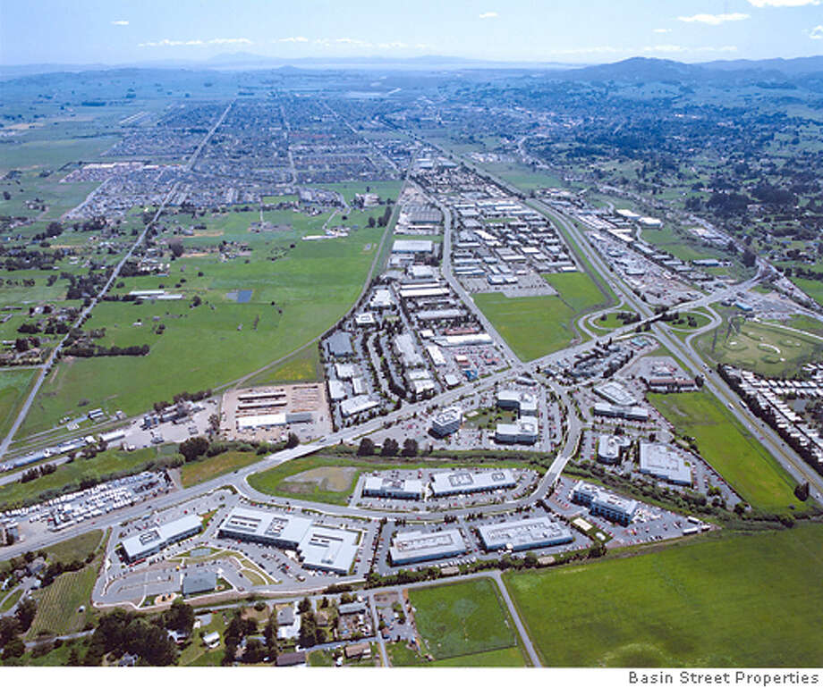 Aerial shot of Redwood Business Park in Petaluma. Photo: Courtesy of Basin Street Properties Photo: Courtesy Of Basin Street Propert