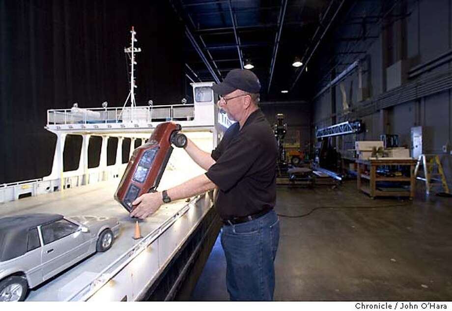 Industrial Light and Magic, San Rafael,CA  Steve Gawlwy, Model Master. The Ferry Boat used in War of the WOrlds  Photo/John O'Hara Photo: John O'Hara