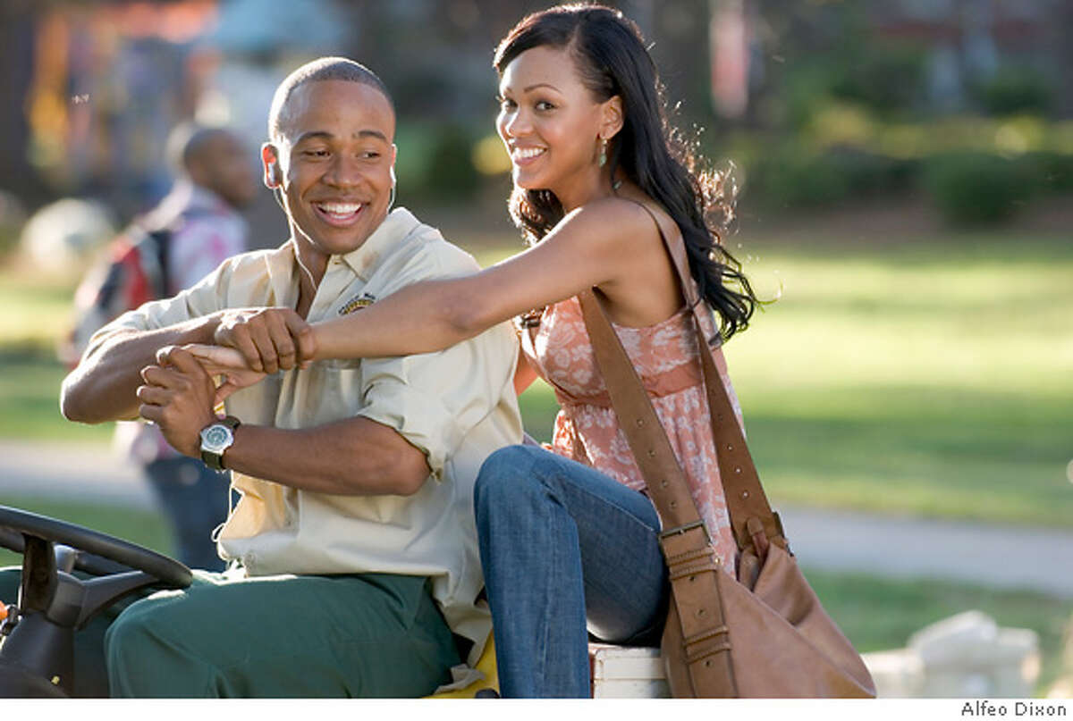 COLUMBUS SHORT as DJ and MEAGAN GOOD as April in Screen Gems� STOMP THE YARD. **ALL IMAGES ARE PROPERTY OF SONY PICTURES ENTERTAINMENT INC. FOR PROMOTIONAL USE ONLY. SALE, DUPLICATION OR TRANSFER OF THIS MATERIAL IS STRICTLY PROHIBITED.