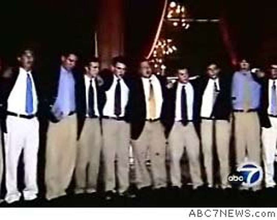The Yale glee club is shown performing in a video on the ABC 7 website. Mandatory Credit: Courtesy ABC7.com  Ran on: 01-10-2007  Members of Yale's a cappella group were attacked outside a Richmond District home on New Year's Eve, witnesses say.  Ran on: 01-10-2007  Members of Yale's a cappella group were attacked outside a Richmond District home on New Year's Eve, witnesses say. Photo: Courtesy ABC7.com