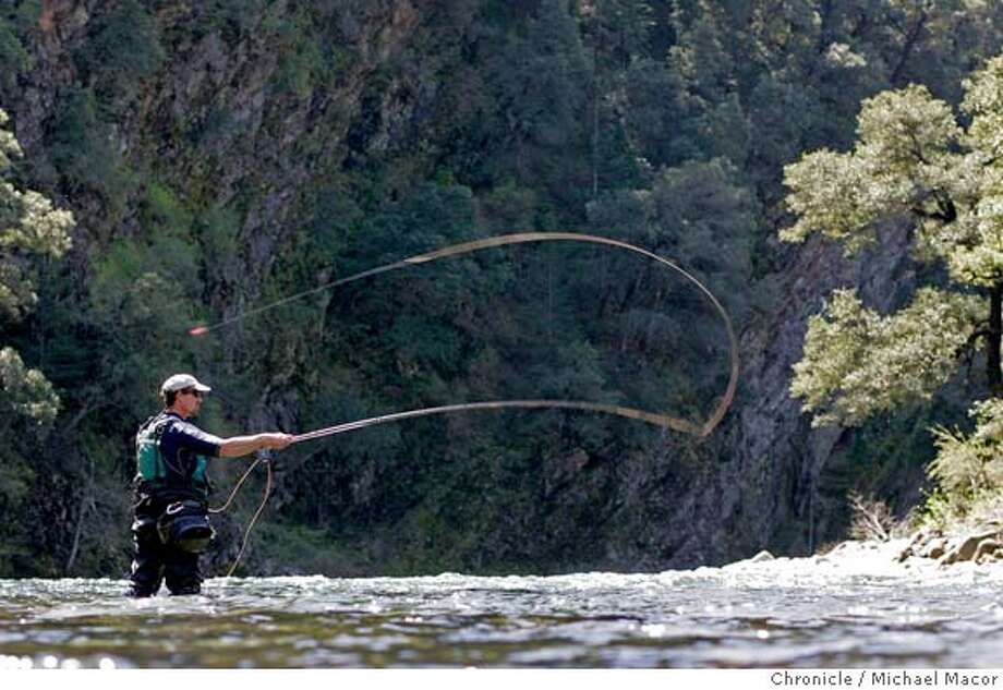 trout_138_mac.jpg Jack Trout, ventures out into the Upper Sacramento for a few casts into the waters. Fishing the upper Sacramento River with the guide services of Jack Trout, floating down the river by raft. 4/15/05 Mt. Shasta, Ca Michael Macor / San Francisco Chronicle Ran on: 04-21-2005  Fly-fishing guide Jack Trout shows how it's done on the Upper Sacramento, and the proof (below) is in his hand. Mandatory Credit for Photographer and San Francisco Chronicle/ - Magazine Out Photo: Michael Macor