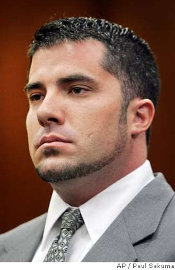 ** FILE ** Bryan Wagner listens during a hearing Oct. 10, 2006, in San Jose, Calif. Wagner was charged Wednesday, Jan. 10, 2007, with identity theft and conspiracy for allegedly posing as a journalist to access reporters' private phone records as part of the boardroom spying scandal at Hewlett-Packard Co. (AP Photo/Paul Sakuma) OCT. 10, 2006 FILE PHOTO Photo: PAUL SAKUMA