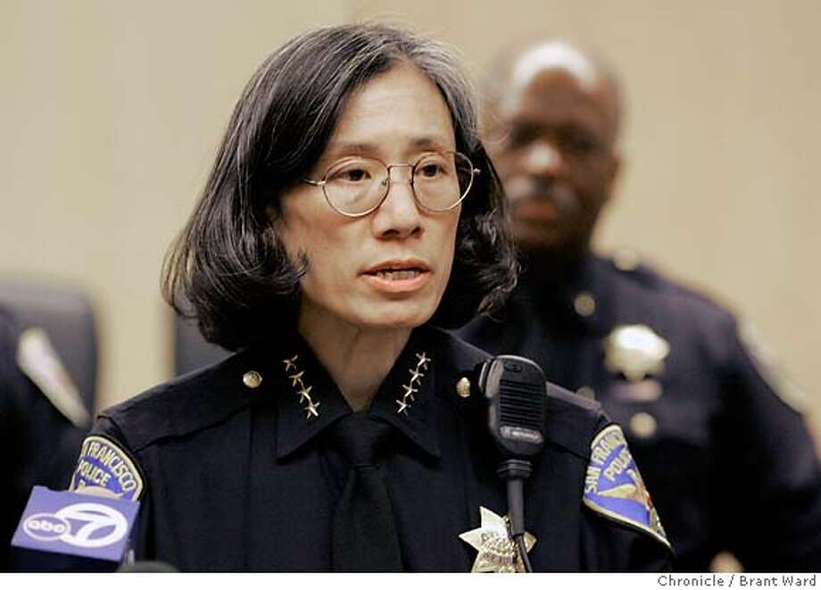 "SFPD001_ward.jpg  San Francisco Police Chief Heather Fong held a press conference at the Hall of Justice to comment about the Chronicle's ""use of force"" series Monday.  Brant Ward2/6/06 Ran on: 03-29-2006  Heather FongRan on: 03-29-2006  Heather FongRan on: 03-29-2006  Heather FongRan on: 03-29-2006  Ran on: 03-29-2006  Heather FongRan on: 03-29-2006  Heather FongRan on: 03-29-2006  Heather FongRan on: 04-05-2006  Mayor Gavin Newsom said The Chronicle series on the use of force persuaded him to look beyond the police video incident.Ran on: 04-05-2006  Mayor Gavin Newsom said The Chronicle's series on the use of force persuaded him to look beyond the police video incident.  Ran on: 09-01-2006  Heather Fong, San Francisco police chief, says the strong partnership with the community must continue.  Ran on: 11-14-2006  Police Chief Heather Fong wants captains to have say-so in what beats officers walk.  Ran on: 11-14-2006  Police Chief Heather Fong wants captains to have say-so in what beats officers walk.  Ran on: 11-15-2006  Supervisor Bevan Dufty  Ran on: 11-15-2006 Ran on: 11-15-2006  Supervisor Bevan Dufty  Ran on: 11-15-2006  Supervisor Bevan Dufty  Ran on: 11-15-2006  Supervisor Bevan Dufty Photo: Brant Ward"