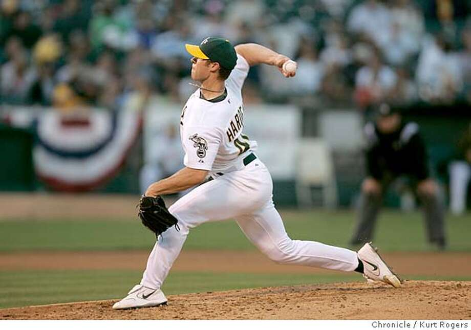 Rich Harden starting pitcher.  Chicago White Sox vs. Oakland Athletics at the McAfee coliseum in Oakland. 7/1/05 in Oakland,CA.  KURT ROGERS/THE CHRONICLE Photo: KURT ROGERS