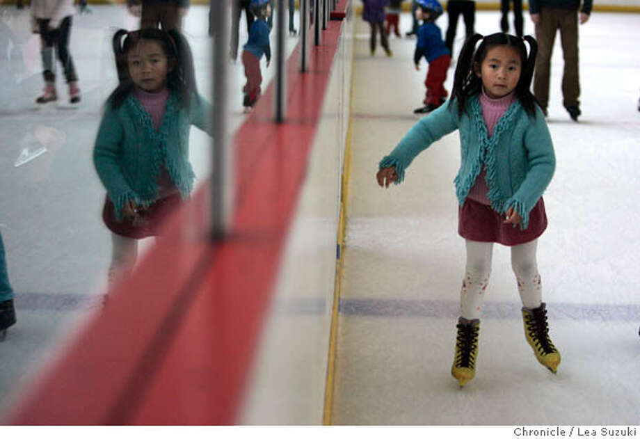 soundscene_282_ls.JPG  Tracy Tam, 6, skates around the rink at the Yerba Buena Ice Skating Center. Skaters enjoy the Yerba Buena Ice Skating Center (part of the Yerba Buena Ice Skating and Bowling Center) on Sunday, December 31, 2006. Photo by Lea Suzuki/The San Francisco Chronicle  Photo taken on 12/31/06, in San Francisco, CA. **(themselves) cq. Ran on: 01-11-2007  Tracy Tam, 6, looks very much in control as she works her way around the rink at the Yerba Buena Ice Skating Center. Photo: Lea Suzuki