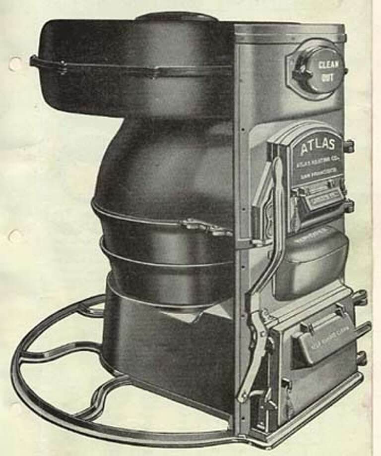 "The Atlas Blue Front Furnace from catalog: ""The Atlas is the cleanest heater of its kind on the world. Note the feed and ash pit sections are brought thru the front.""  (HANDOUT PHOTO) Photo: HANDOUT"