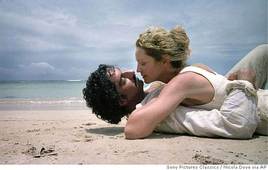 """In this photo provided by Sony Pictures Classics, He (Simon Abkarian), a Lebanese surgeon exiled in London, sparks an affair with She (Joan Allen), an Irish-American scientist in """"Yes."""" (AP Photo/Sony Pictures Classics/Nicola Dove) Photo: NICOLA DOVE"""
