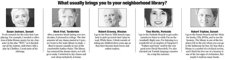 What usually brings you to your neighborhood library?