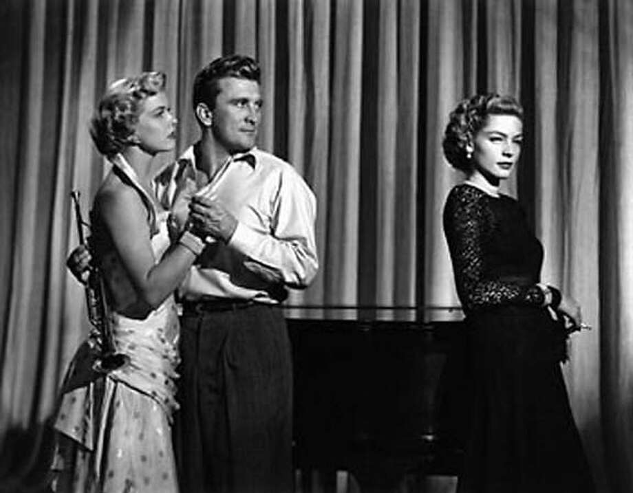 """Doris Day, Kirk Douglas and Lauren Bacall in """"Young Man With a Horn"""""""