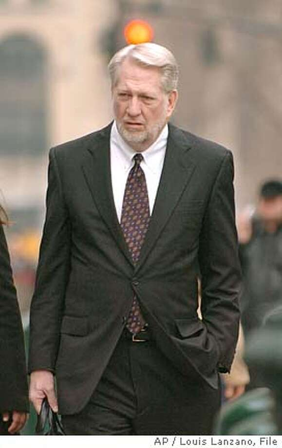 ** FILE ** IN a file photo Bernard former CEO of WorldCom enters Manhattan Federal court, Monday, March 7, 2005, in New York. Former WorldCom boss Bernard will give up nearly everything he owns in a settlement with angry investors in the fraud-toppled company. (AP Photo/ Louis Lanzano) MARCH 7, 2005, PHOTO Photo: LOUIS LANZANO