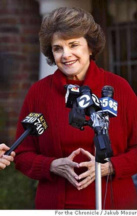 Feinstein01.JPG Sen. Dianne Feinstein, D-Calif. reacts to the news of Saddam Hussein's capture by US troops in Iraq during a press conference in front of her home in the Richmond neighborhood in San Francisco on Sunday Dec. 12, 2003.  Event on 12/14/03 in San Francisco. JAKUB MOSUR / The Chronicle MANDATORY CREDIT FOR PHOTOG AND SF CHRONICLE/ -MAGS OUT Nation#MainNews#Chronicle#1/28/2004#ALL#3star##0421529832 The rent on Hetch Hetchy Reservoir has not increased since the late 1920s, when San Francisco was charged $30,000 per year. Dianne Feinstein Dianne Feinstein Dianne Feinstein Nation#MainNews#Chronicle#2/4/2004#ALL#3star##0421529832 Photo: JAKUB MOSUR