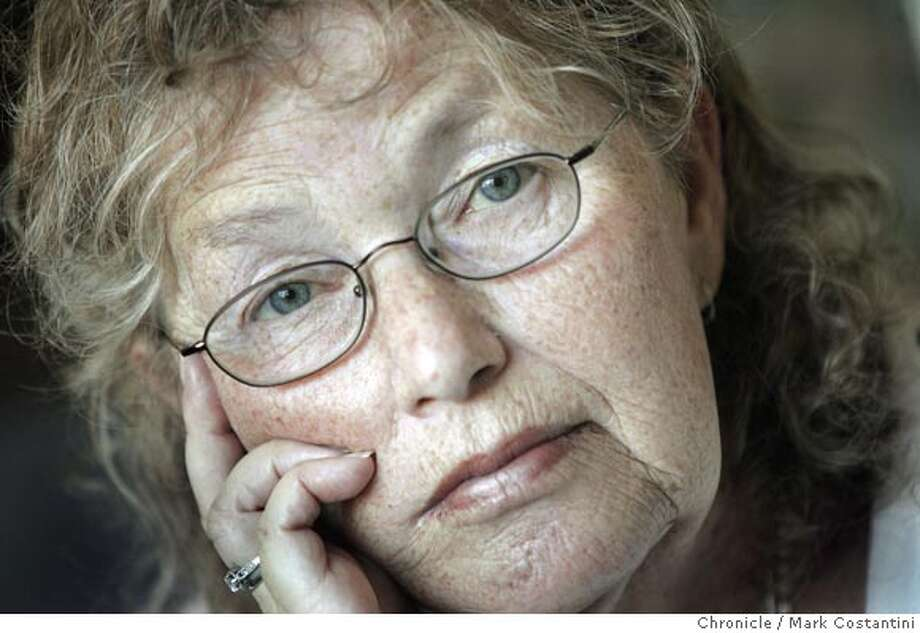 """Berkeley writer Judith Moore's recent new book, """"Fat Girl,"""" is making literati history as a sad but courageous look at the life of a fat girl in a thin-obsessed society. The book, full of haunting descriptions of food that has been both her bane and her love all her life, made a big splash and now Moore is taking it all in the celebrity, and her future. We talk to her in her apartment. Photograph by Mark Costantini/S.F. Chronicle. Photo: Mark Costantini"""