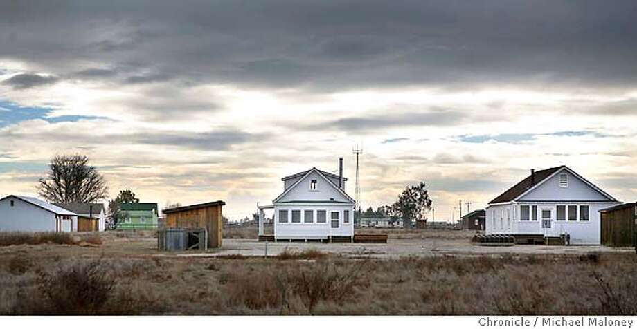 Park visitors can walk among the 20 wooden buildings that have been restored to their original 1911-14 style.  Allensworth State Park, California's oldest and strongest monument to black history and self-sufficiency may have a smelly neighbor soon - a huge dairy. After a ninth hearing on the issue, set for March 20, the Tulare County Board of Supervisors will make a final decision on whether to permit the dairy farm next to the state park which was founded in 1908 by Col. Allen Allensworth, a former slave. Photo taken on 1/4/07 by Michael Maloney / San Francisco Chronicle MANDATORY CREDIT FOR PHOTOG AND SF CHRONICLE/ -MAGS OUT Photo: Michael Maloney