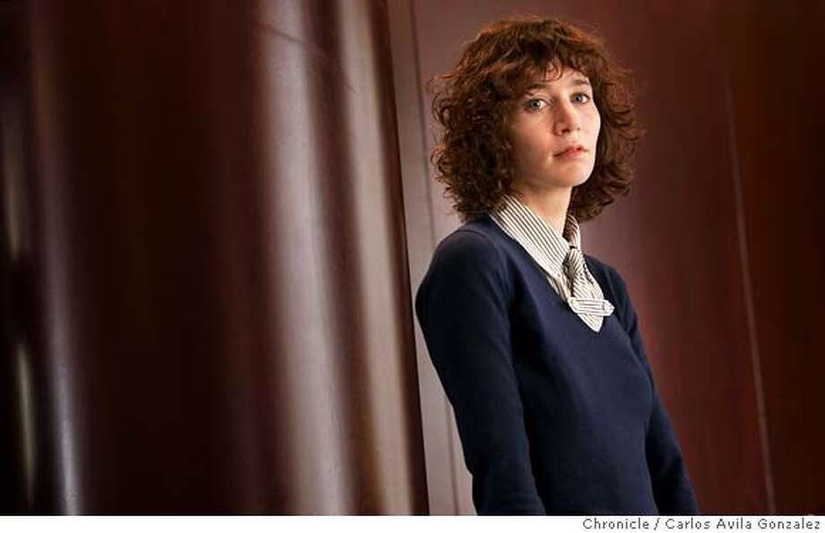 "MIRANDAJULY_025_CAG.JPG  Miranda July, a performance artist who has directed a wonderfully observational look at life and relationships called ""Me and You and Everyone We Know.""  Photo by Carlos Avila Gonzalez / The San Francisco Chronicle  Photo taken on 5/2/05 in San Francisco, CA. MANDATORY CREDIT FOR PHOTOG AND SAN FRANCISCO CHRONICLE/ -MAGS OUT Photo: Carlos Avila Gonzalez"