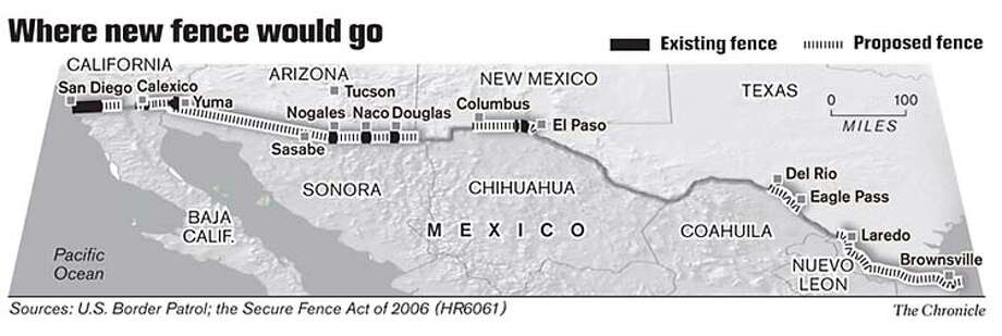 Where New Fence Would Go. Chronicle Graphic