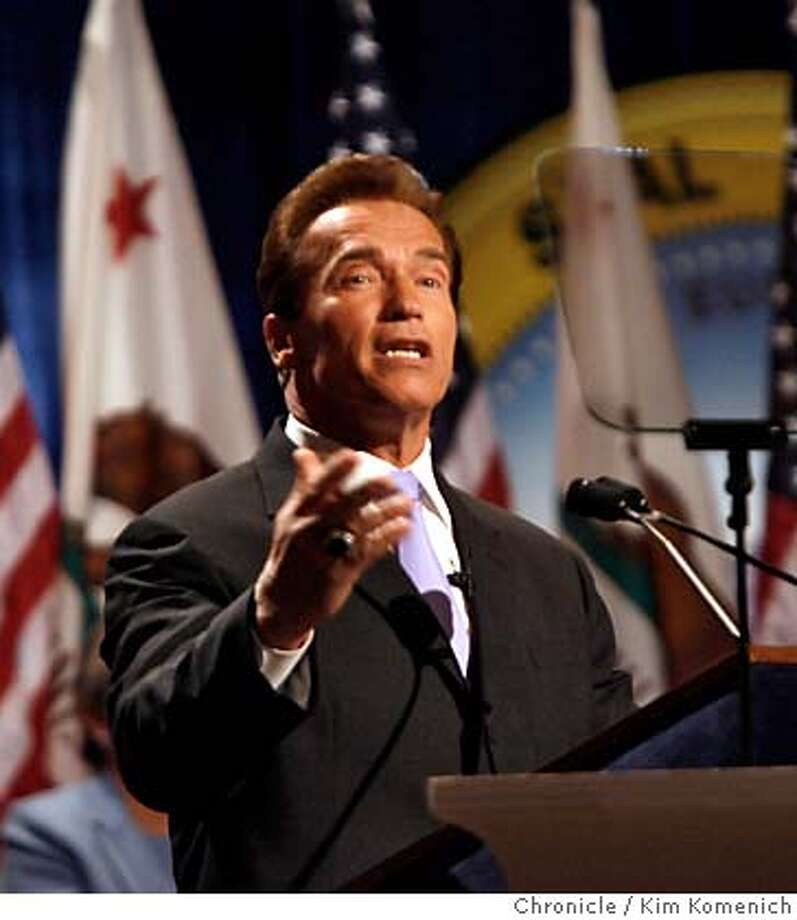 SCHWARZENEGGER_190_KK.JPG  Governor Arnold Schwarzenegger is inaugurated at Sacramento Memorial Auditorium.  Photo by Kim Komenich/The Chronicle �2006, San Francisco Chronicle/Kim Komenich  MANDATORY CREDIT FOR PHOTOG AND SAN FRANCISCO CHRONICLE/ -MAGS OUT Photo: Kim Komenich
